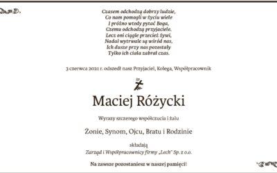 R. I. P. Maciej Różycki